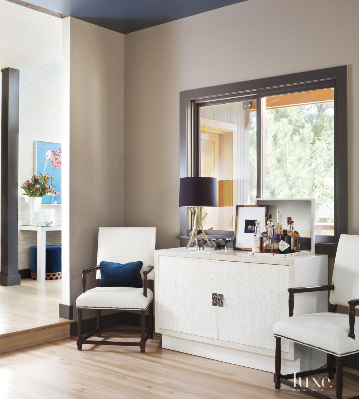 Eclectic Gray Living Room Vignette
