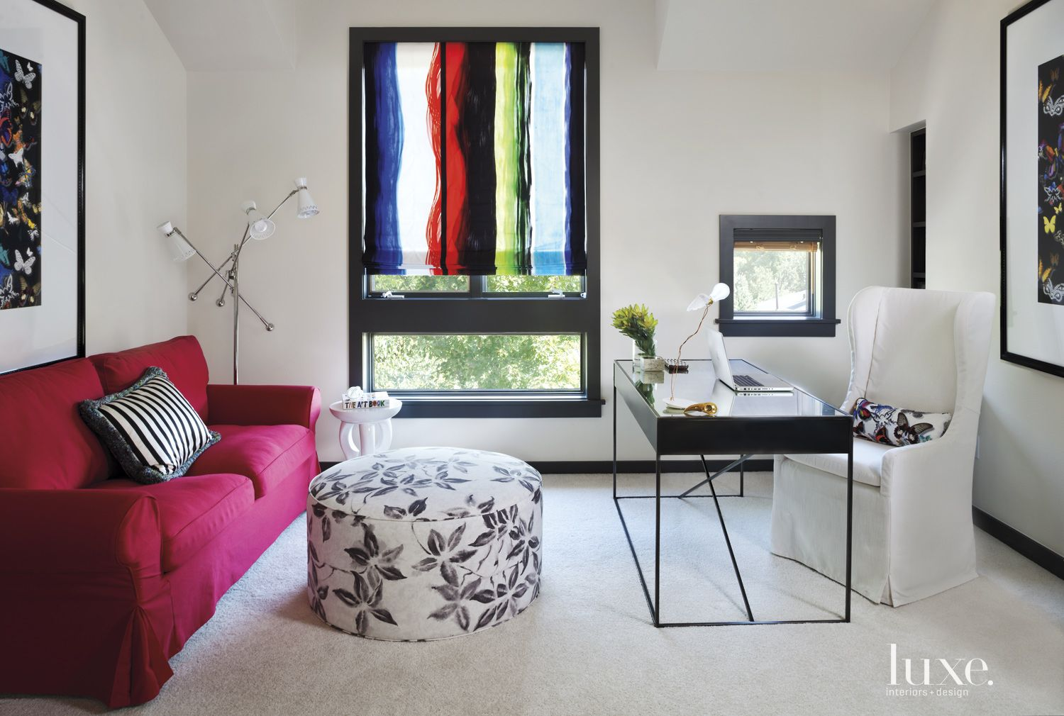 Eclectic White Office
