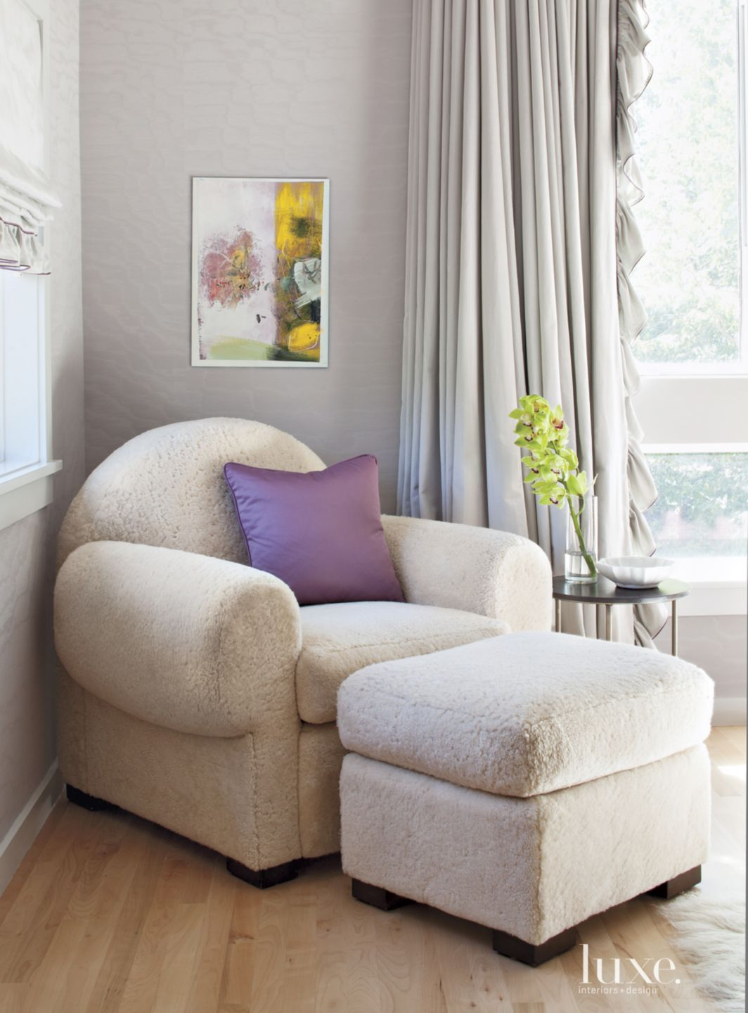 Eclectic Silver Master Bedroom Chair