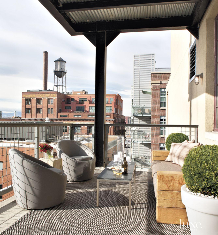 Contemporary Loft Balcony Seating Area