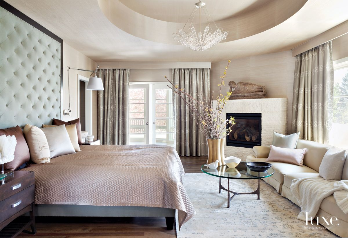 Traditional Neutral Master Bedroom with Tufted Headboard