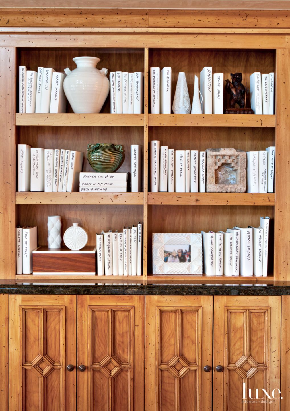 Contemporary Neutral Bookcase with Adler Shelves