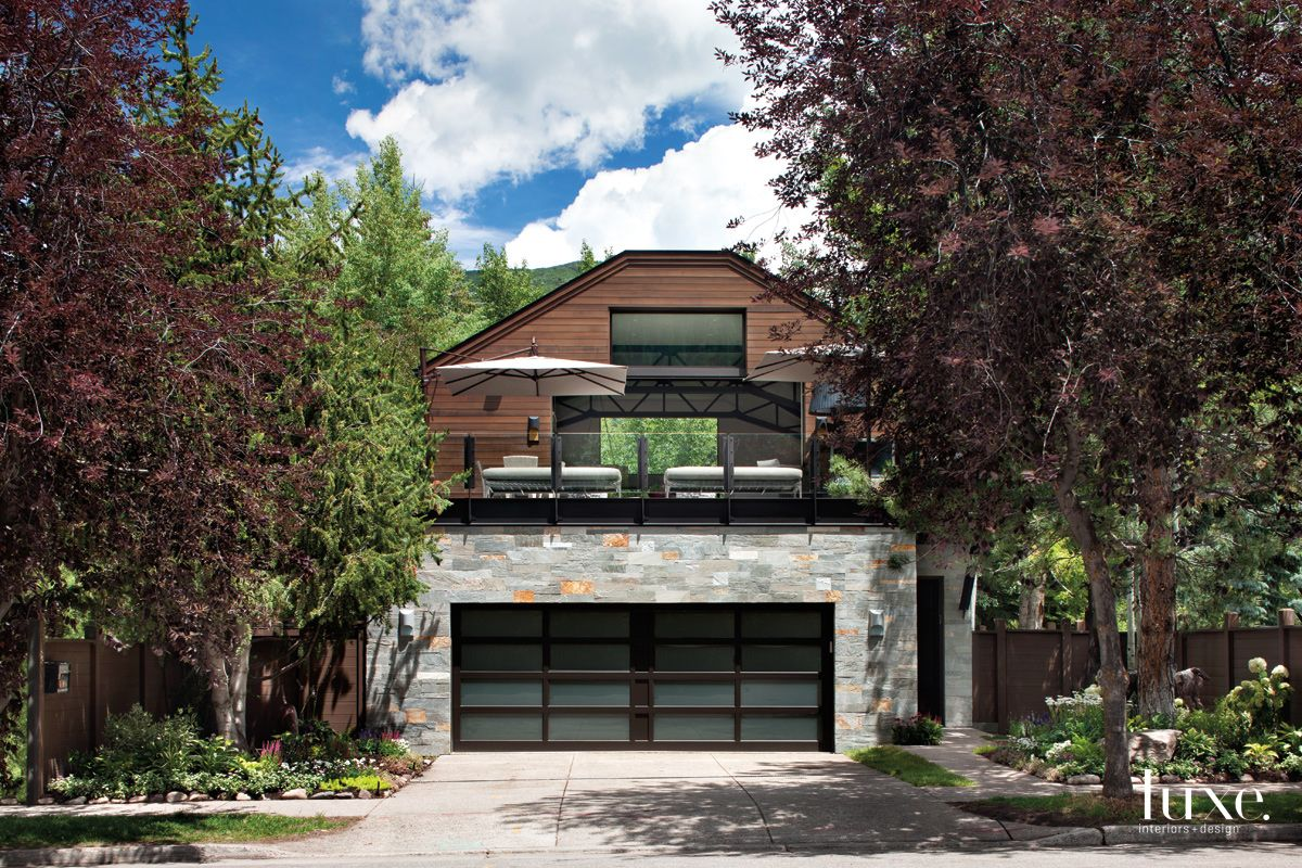 Contemporary Neutral Front Elevation with Upper-Level Deck