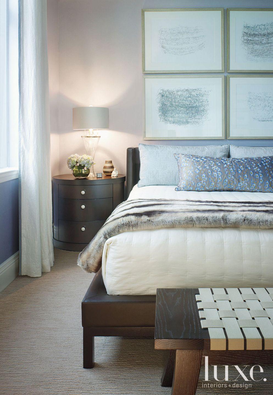 Contemporary Powder Blue Master Bedroom