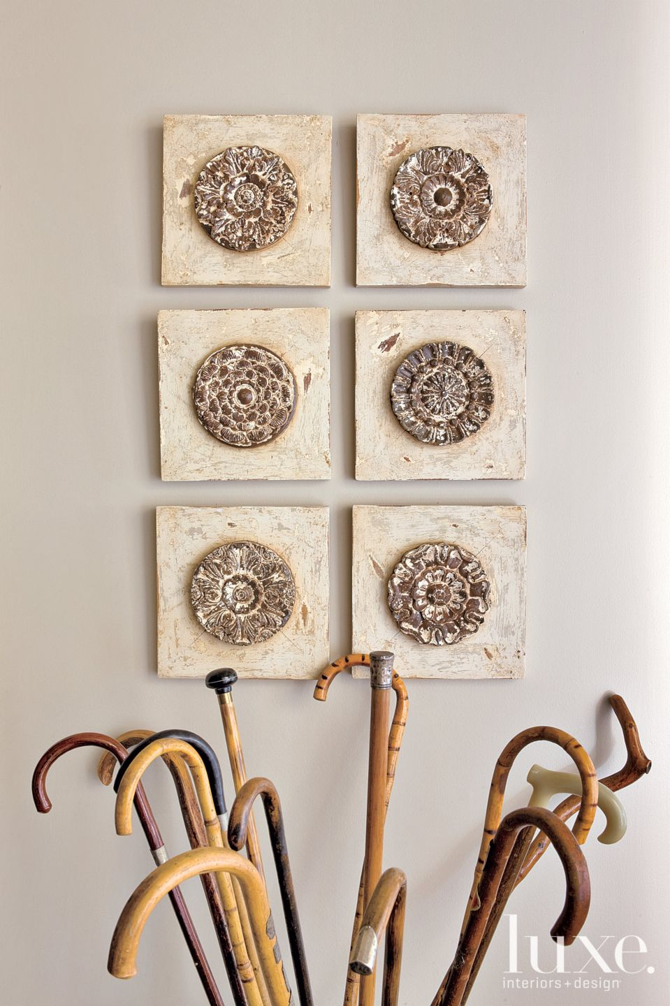 Transitional Neutral Foyer Accents