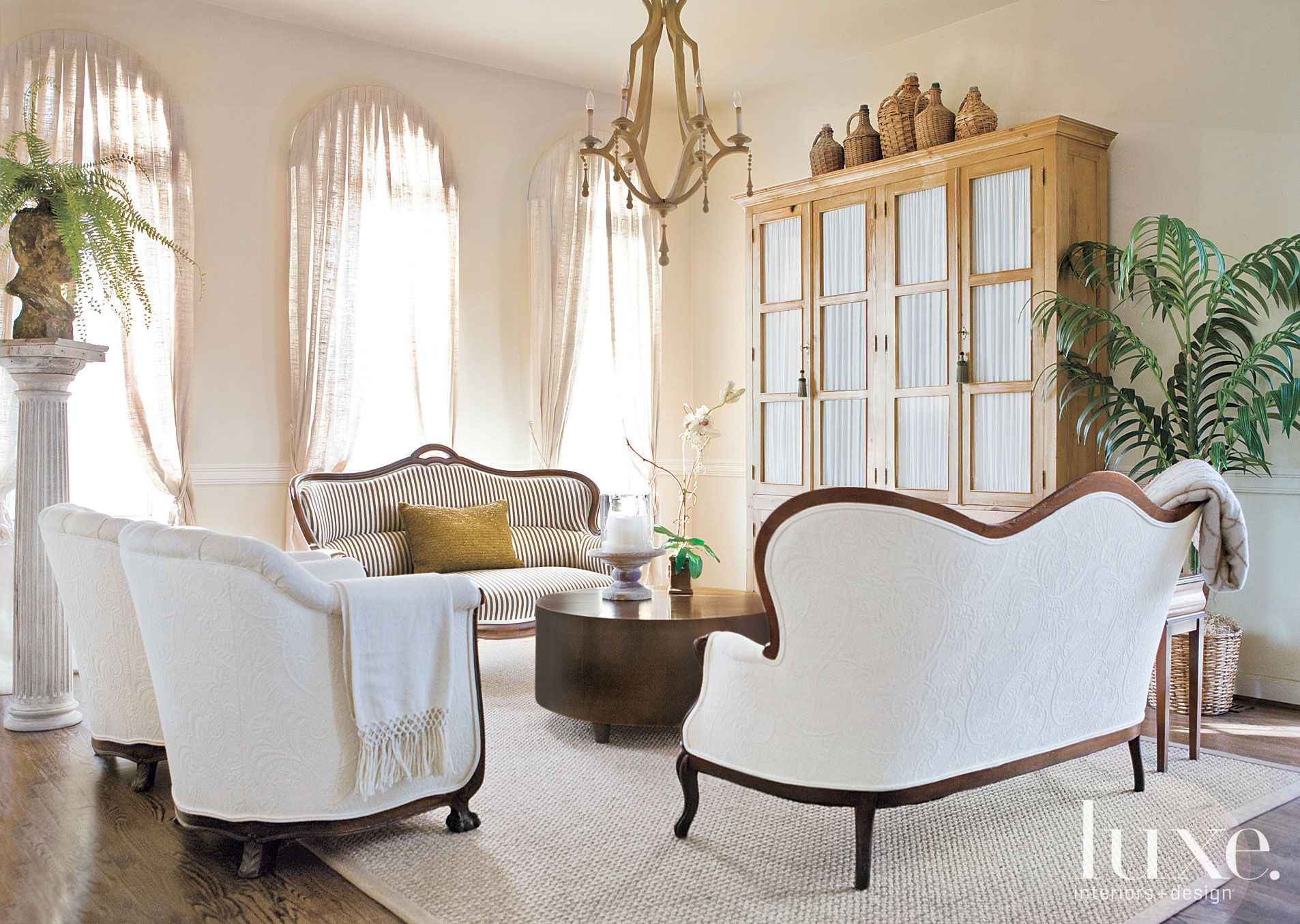 Transitional Neutral Living Room