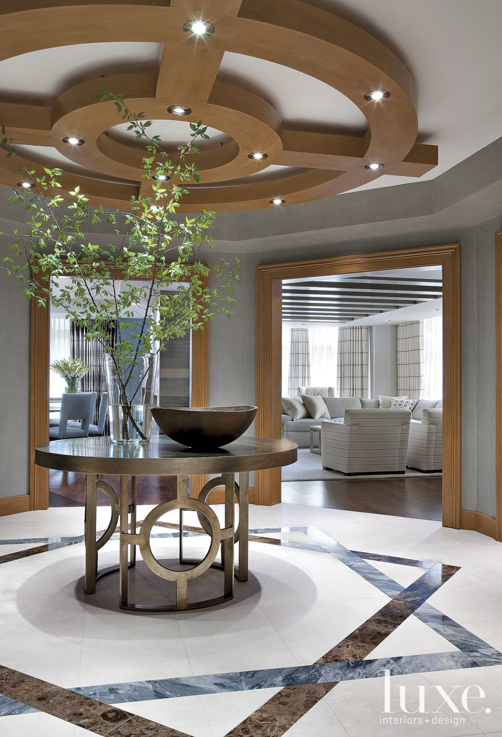 Contemporary Gray Circular Foyer