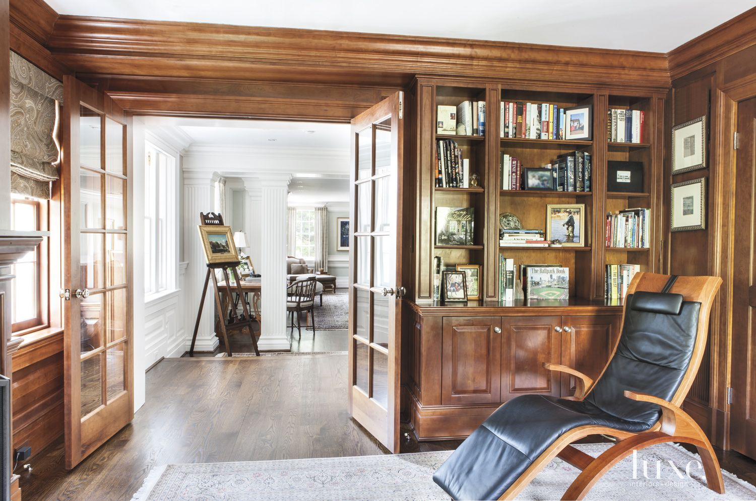 Traditional Paneled Library