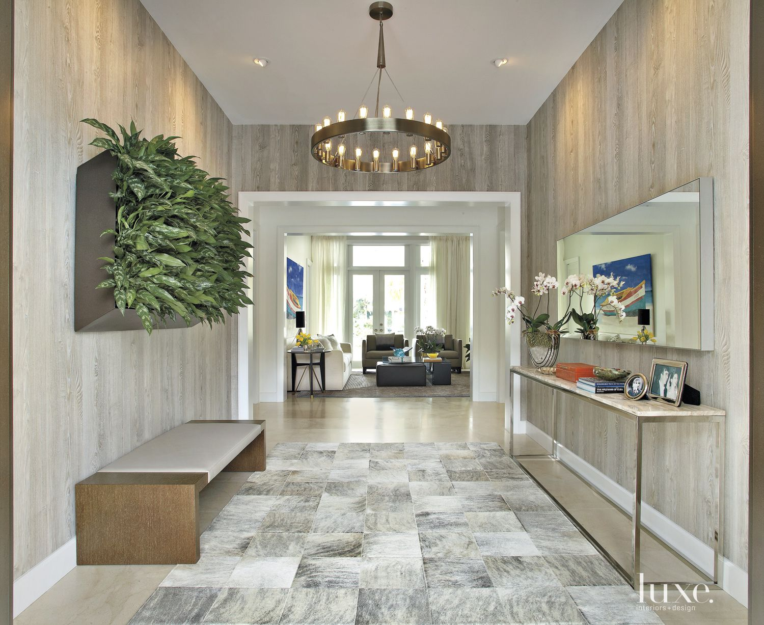 Spacious Contemporary Neutral Foyer