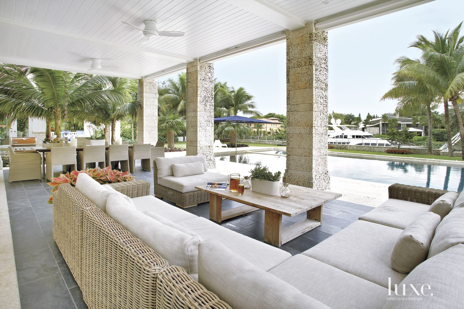 Contemporary White Terrace with Expansive Views