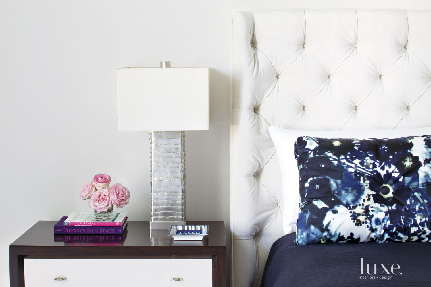 Contemporary White Master Bedroom Headboard
