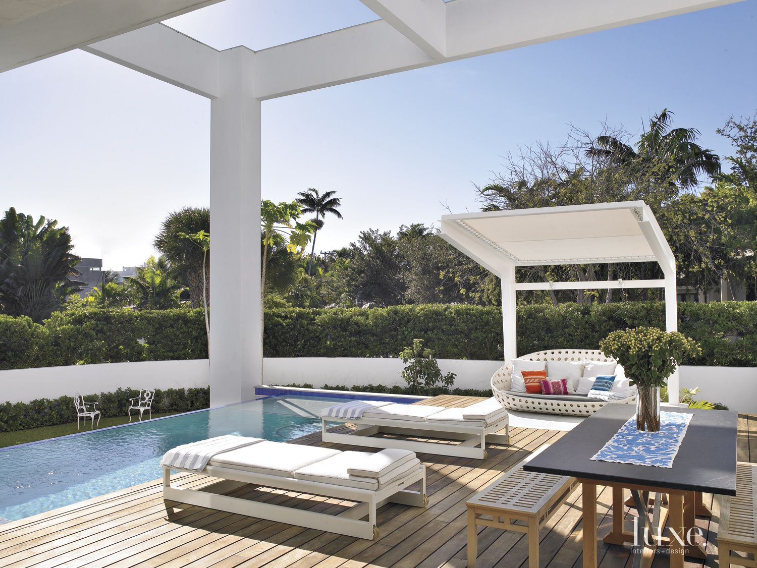 Modern Neutral Deck with Infinity Pool