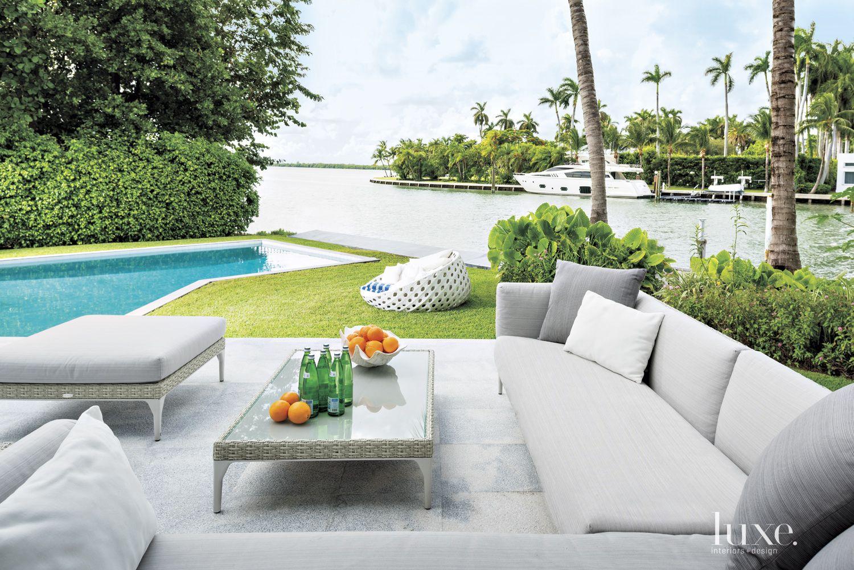 Modern Gray Terrace Lounge Area