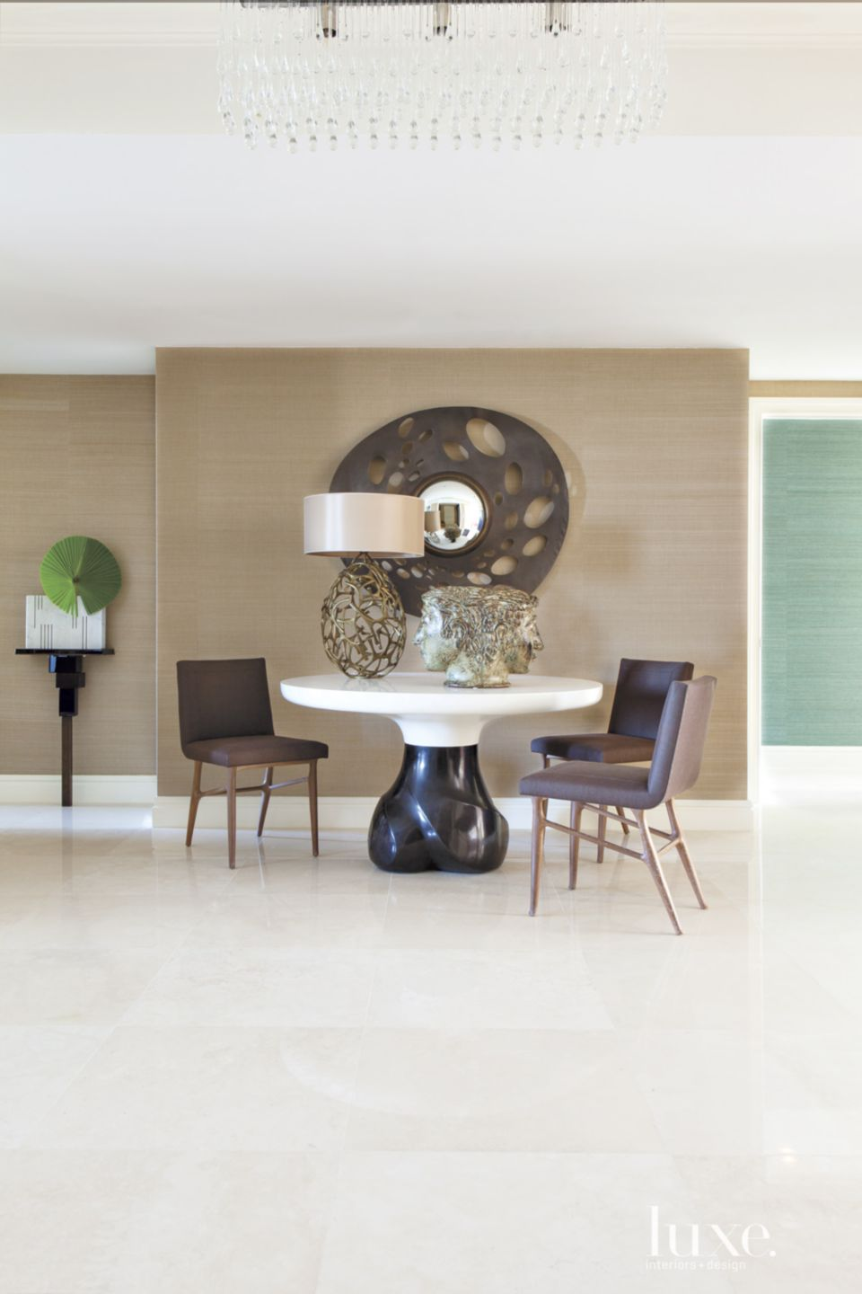 Contemporary Brown Foyer Table
