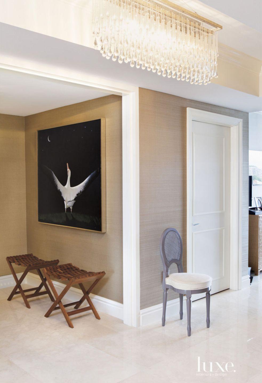Contemporary Brown Entry Hallway