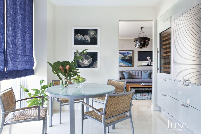 White Modern Kitchen Breakfast Area