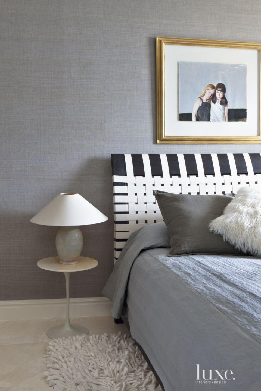 Modern Gray Guest Bedroom