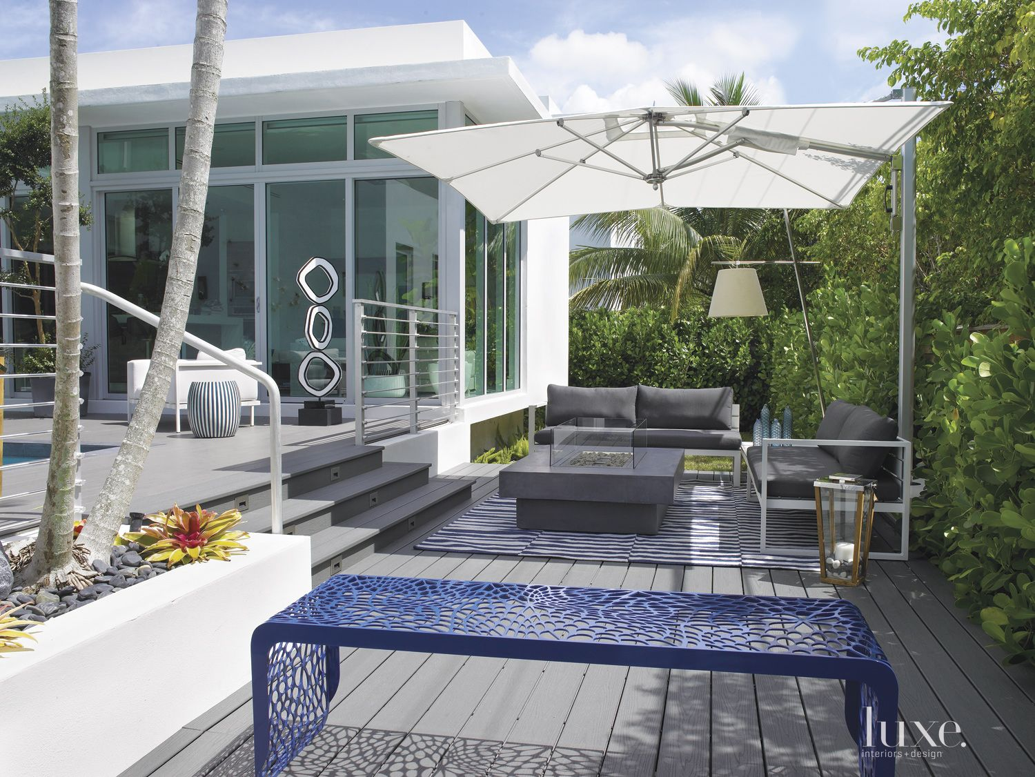 Modern Gray Outdoor Sitting Area