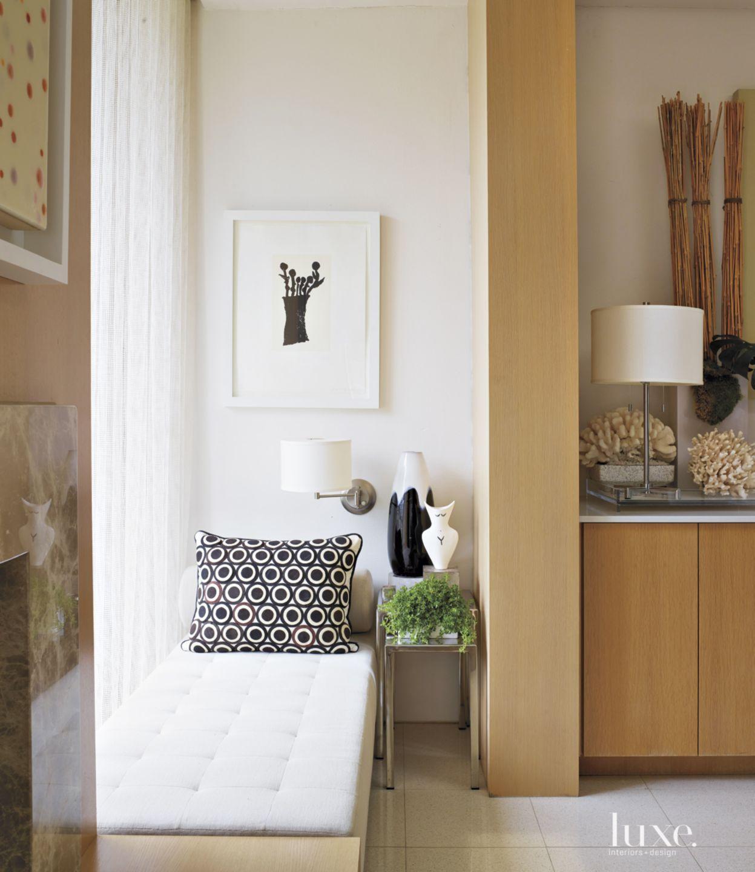 Contemporary White Kitchen Window Seat