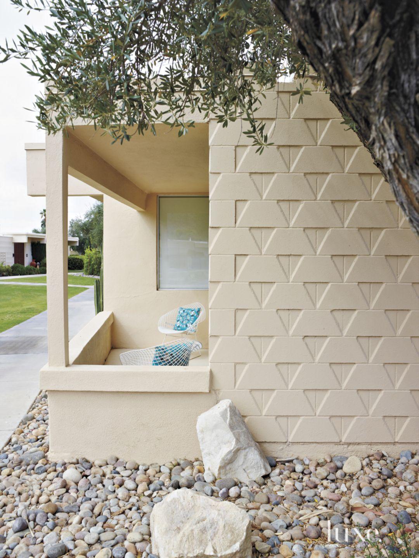 Contemporary Gold Stucco Exterior