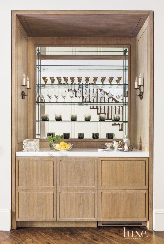 Contemporary Hallway Bar with Antique Mirror
