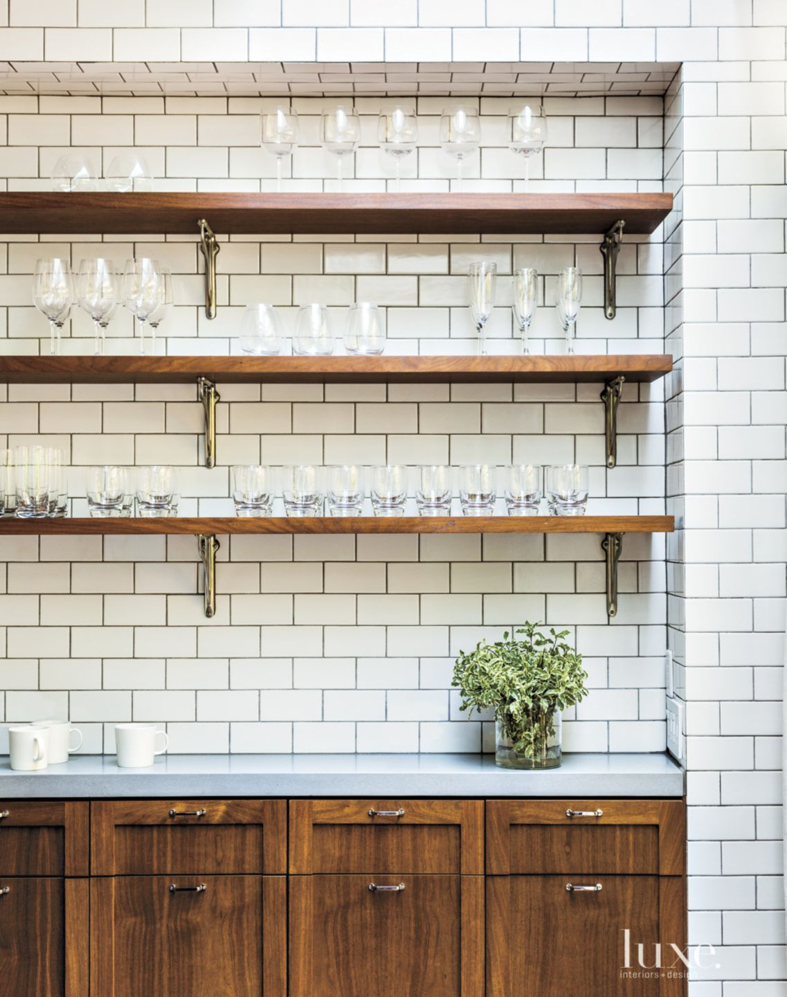 Eclectic White Kitchen Detail