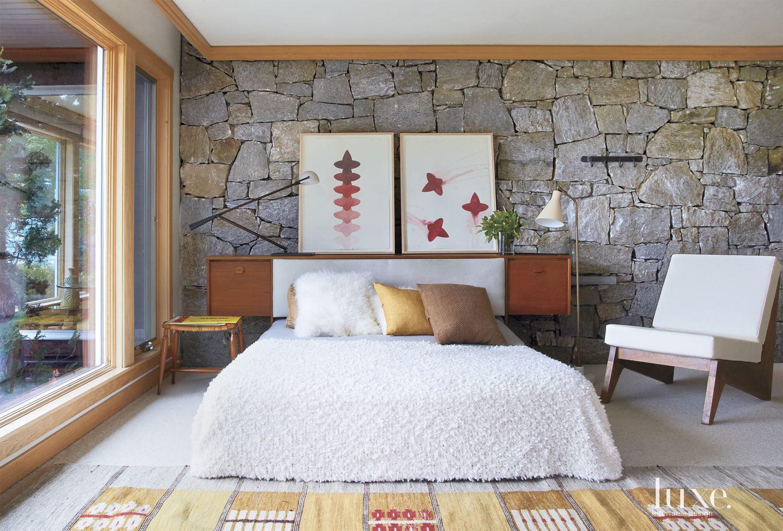 Modern Stone Master Bedroom