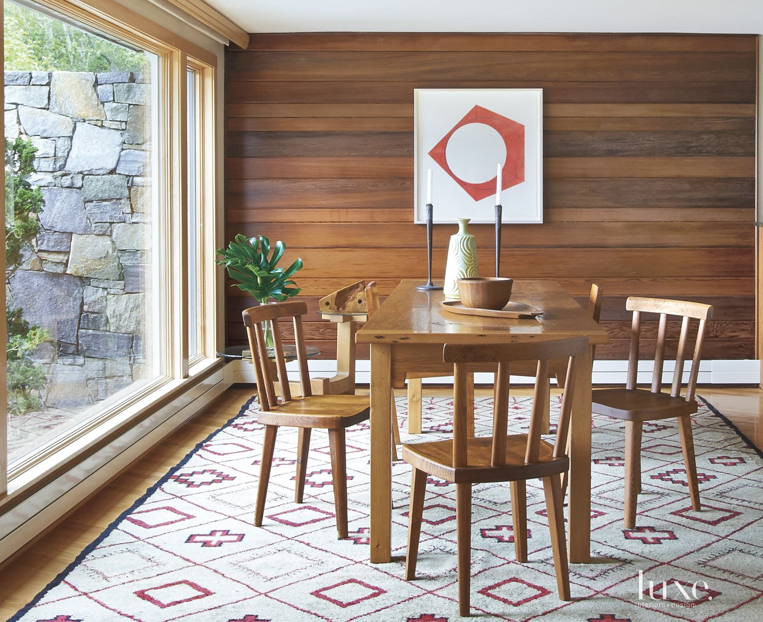 Modern Brown Midcentury Dining Room