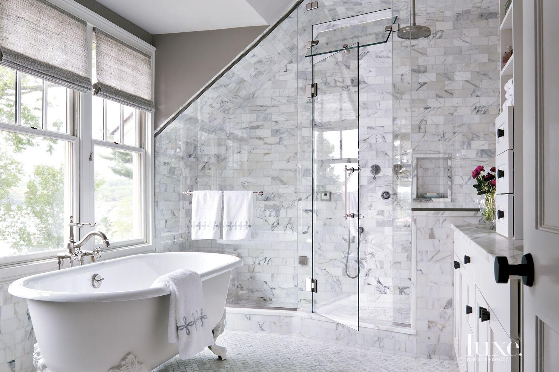 Contemporary Master Bath Clawfoot Tub