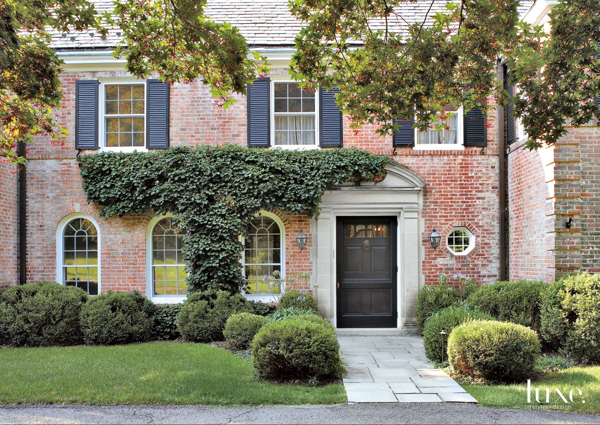 Traditional Brick Exterior with Black Door