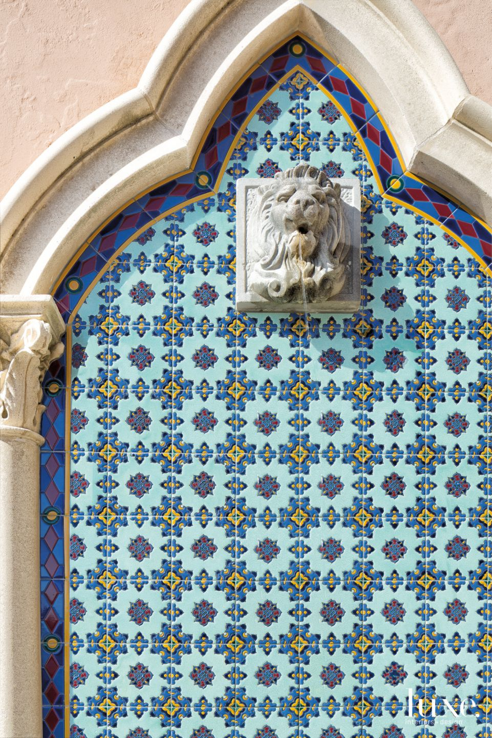 Mediterranean Entry Detail with Mosaic Tile