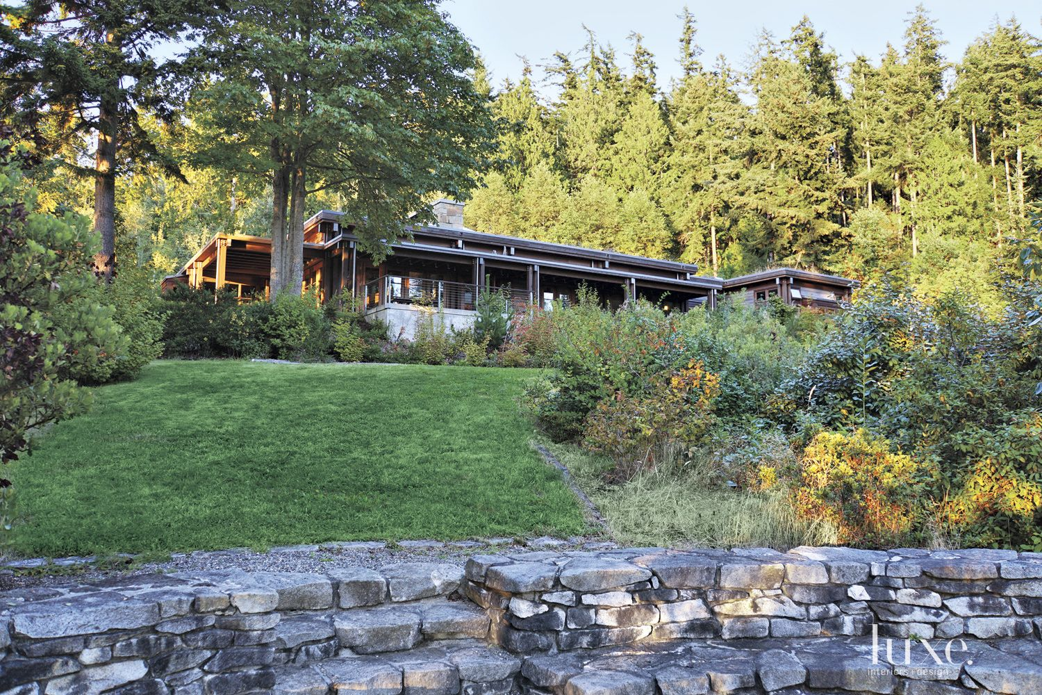 Neutral Wood-and-Concrete Mountain Exterior Landscape