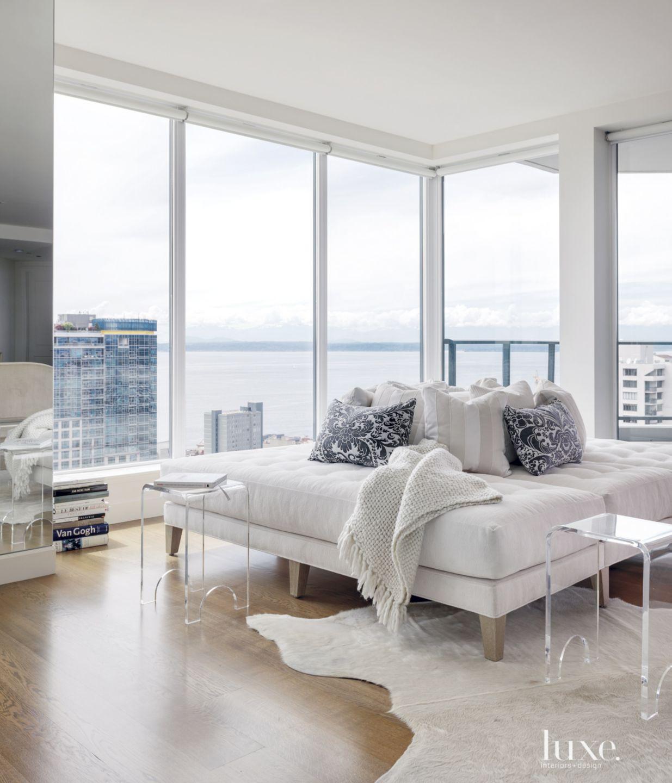 Modern White Corner Lounge