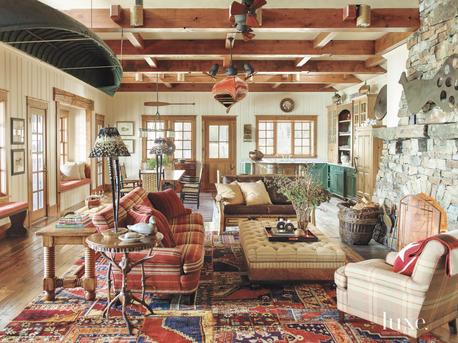Eclectic Country Cream Main Living Area