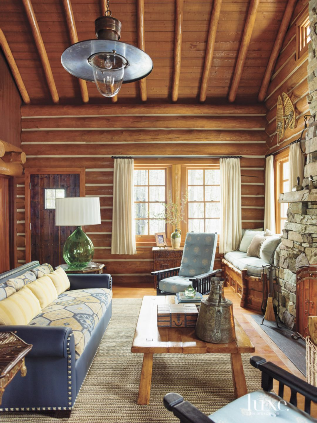 Guesthouse Wood Paneled Living Room
