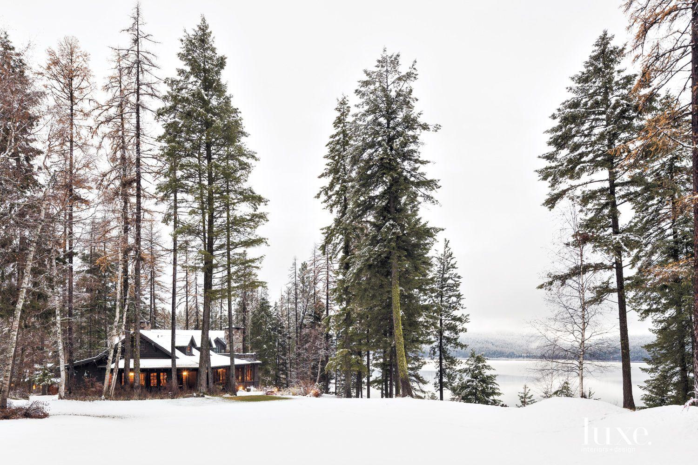 Country Shingled Lakeside Exterior