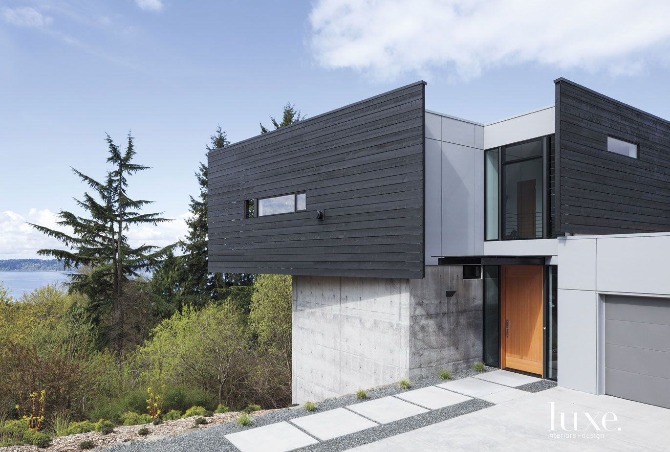 Modern Charcoal Front Elevations