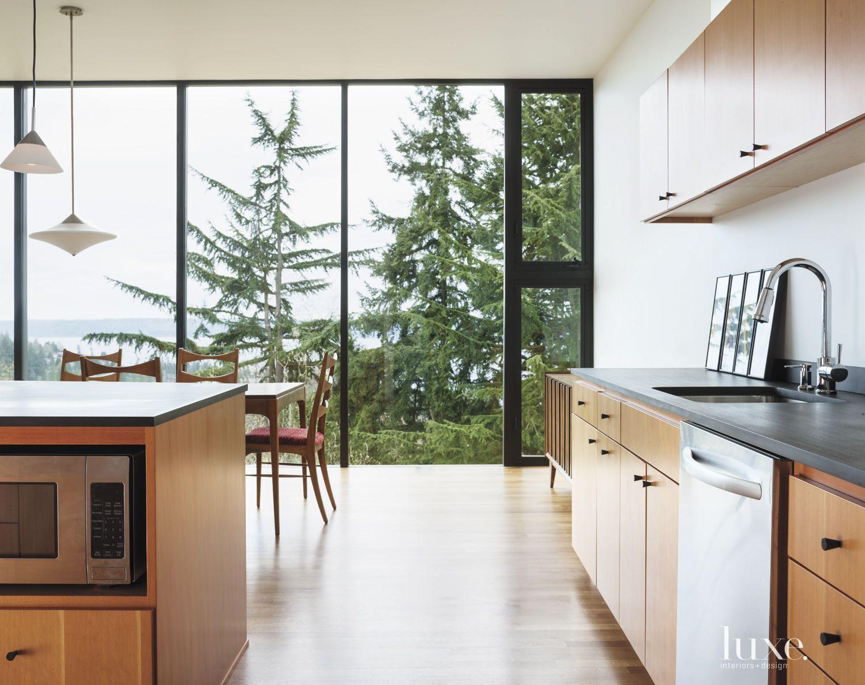 Modern Kitchen Hillside Views