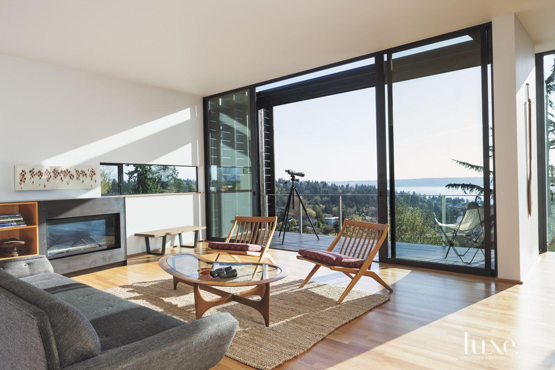 Modern Upper-Level Living Room Balcony