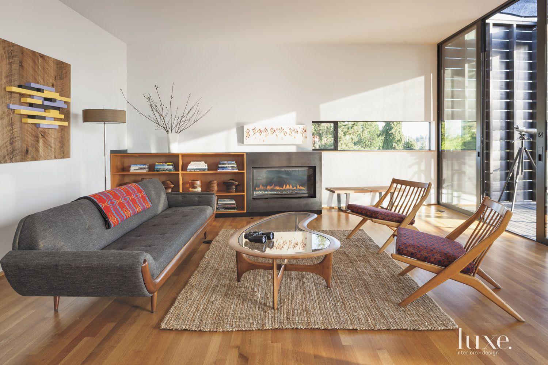 Modern Upper-Level Living Room