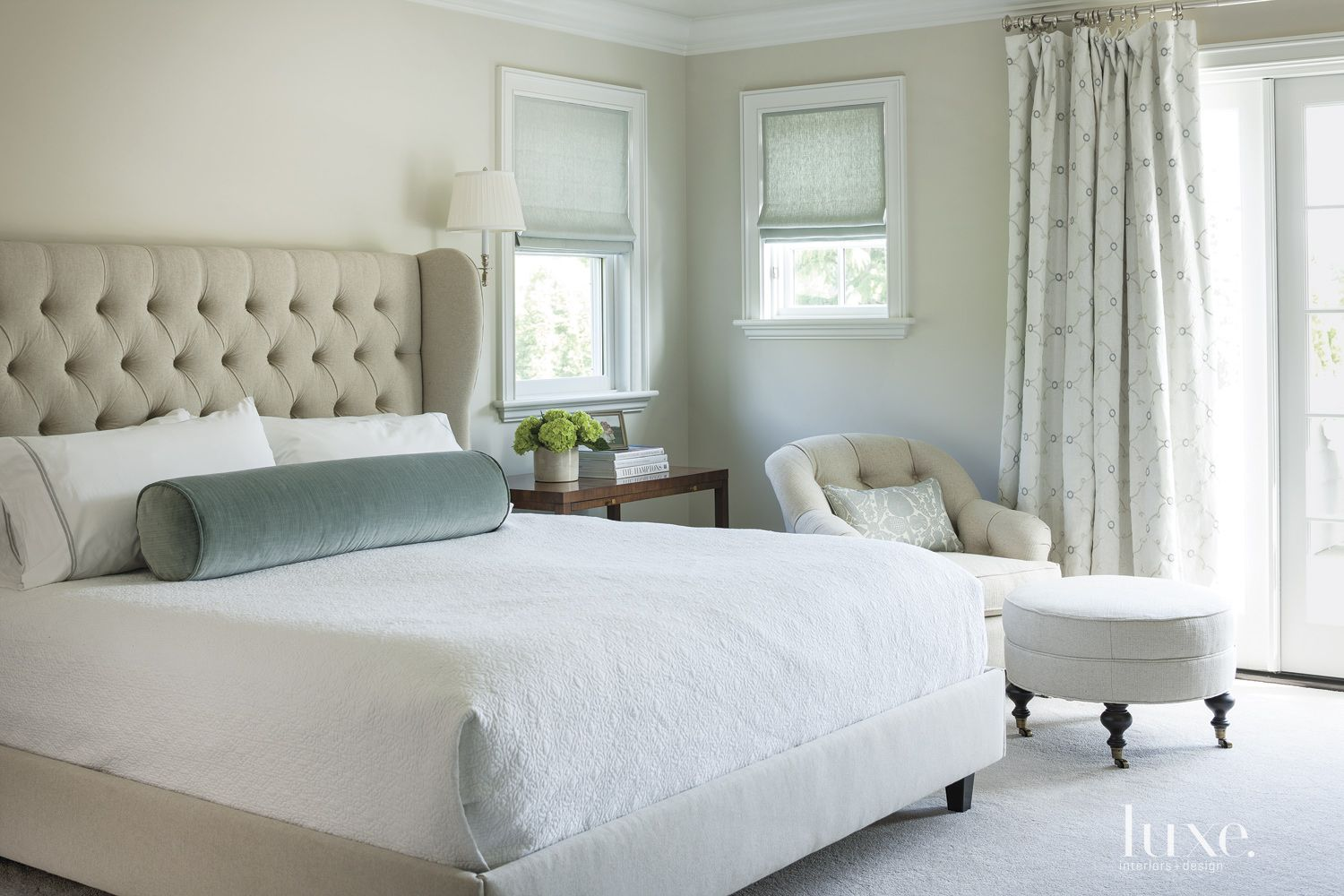 Traditional White Master Bedroom