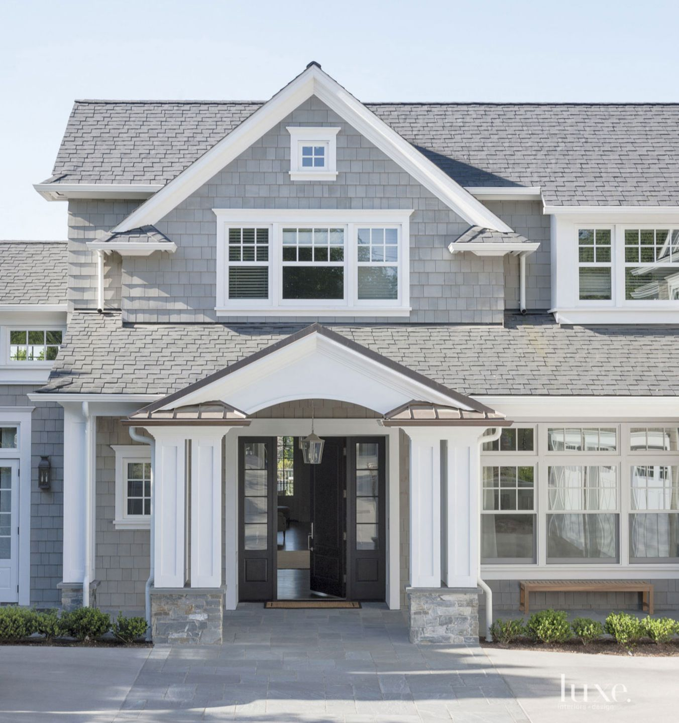 Traditional Shingle-Style Front Exterior