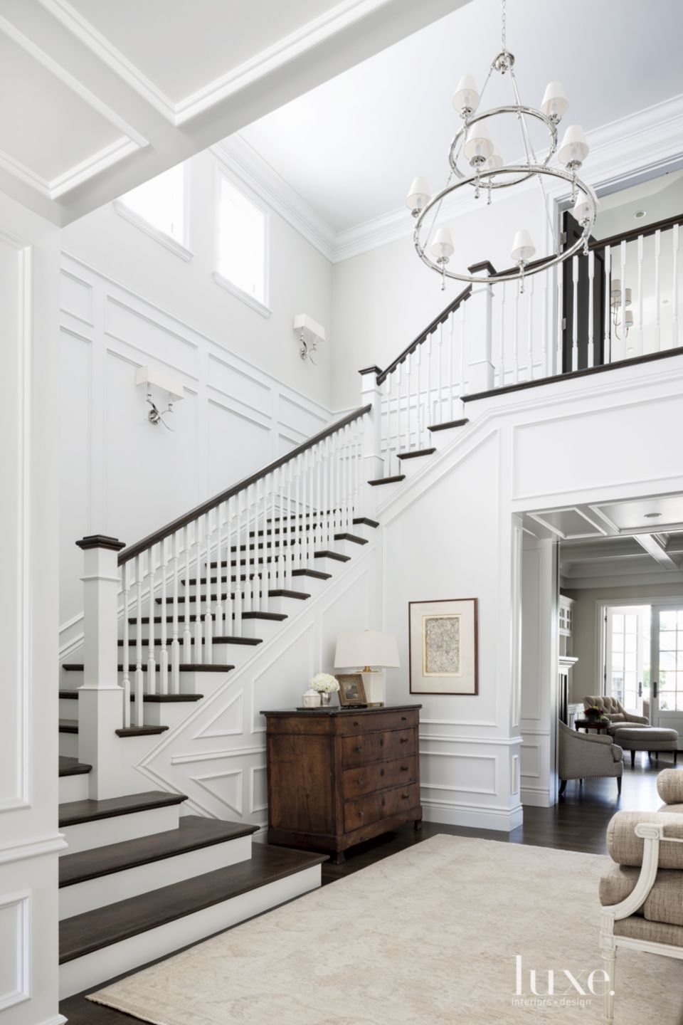 Traditional White Stair Gallery