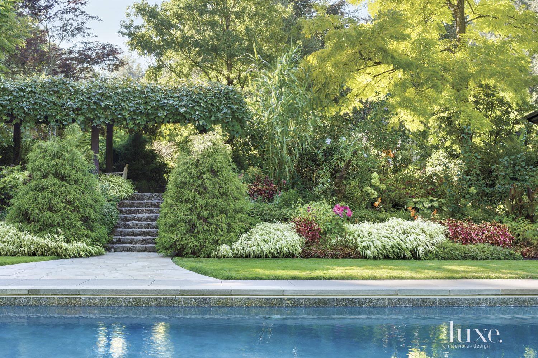 Traditional Neutral Backyard with Pergola