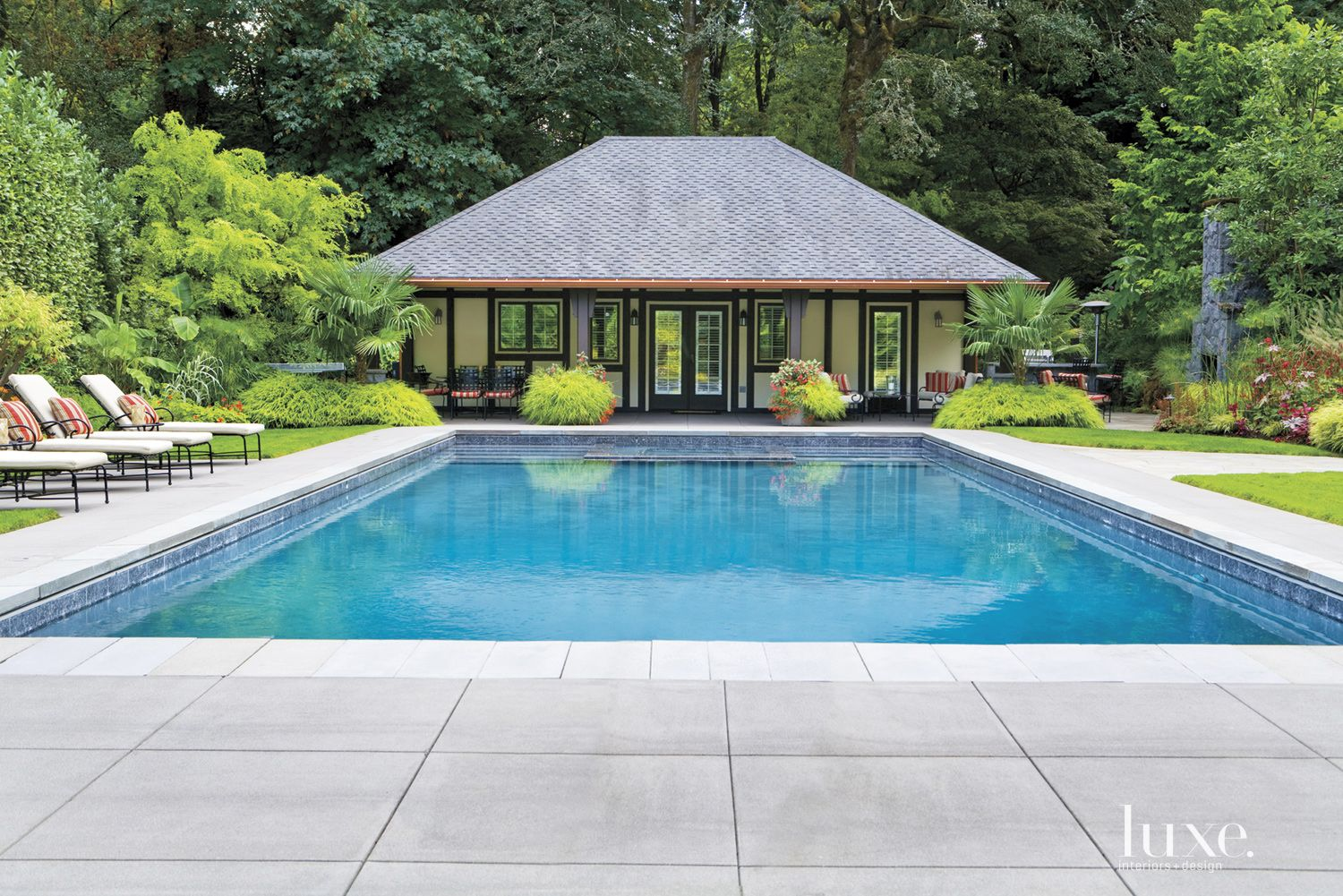 Traditional Neutral Pool with Resort Vibe