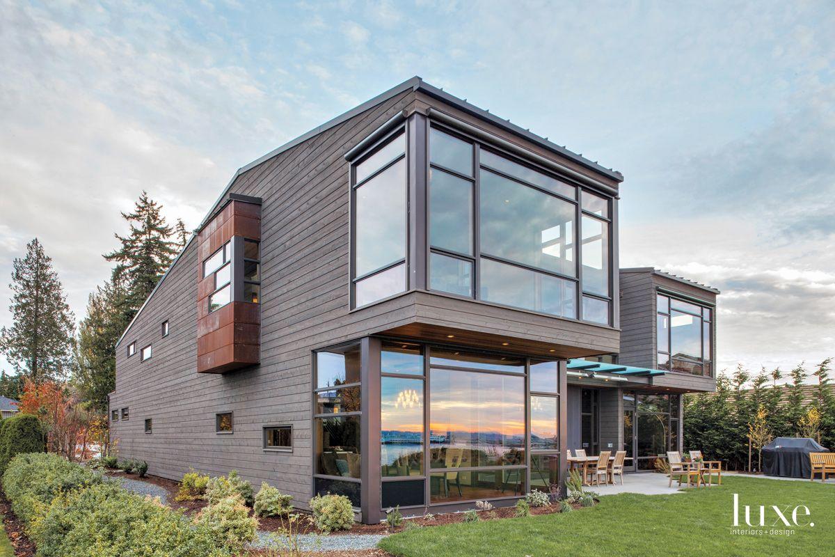 Contemporary Brown Exterior with Glass Façade