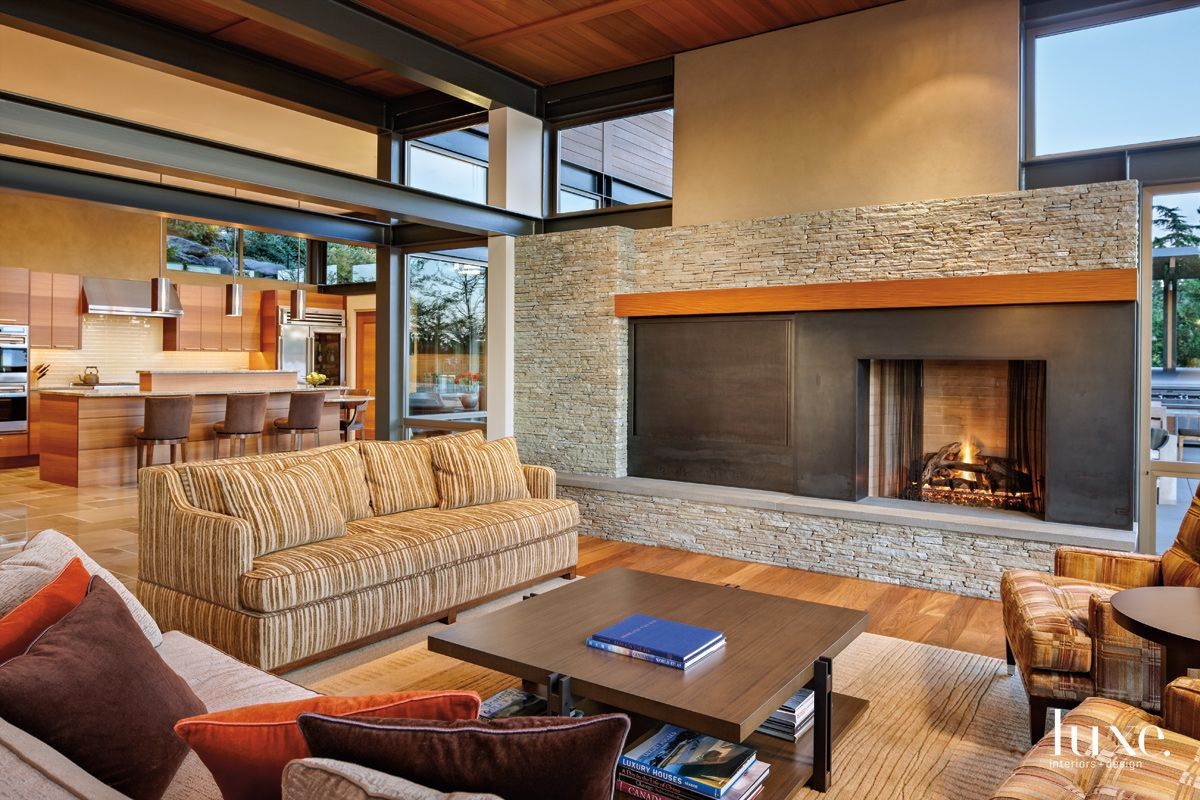 Contemporary Neutral Living Area with Club Chairs