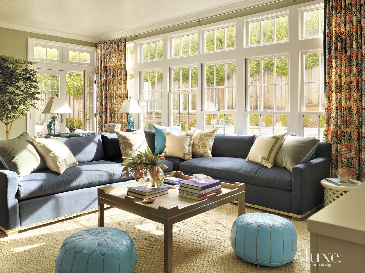 Eclectic Olive Family Room