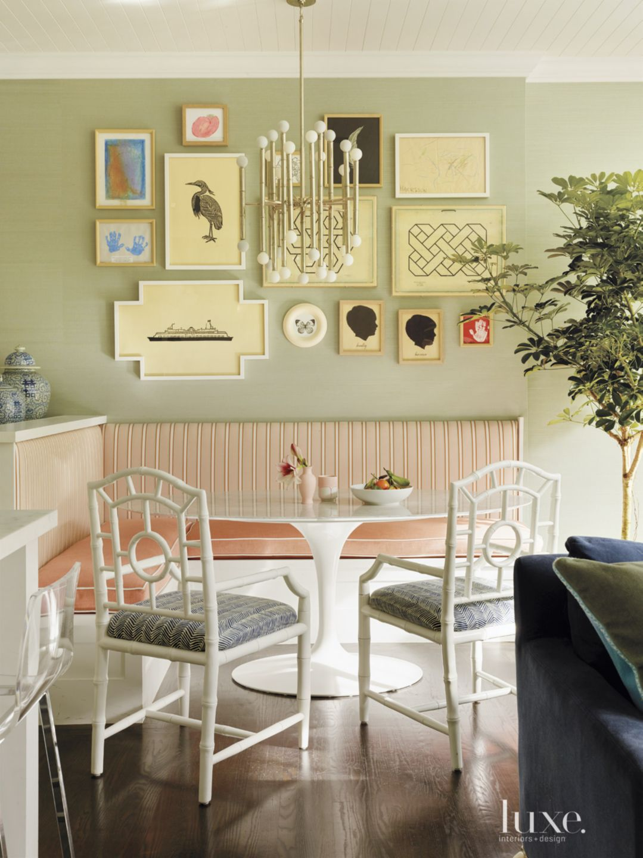 Eclectic Sage Breakfast Nook Gallery Wall