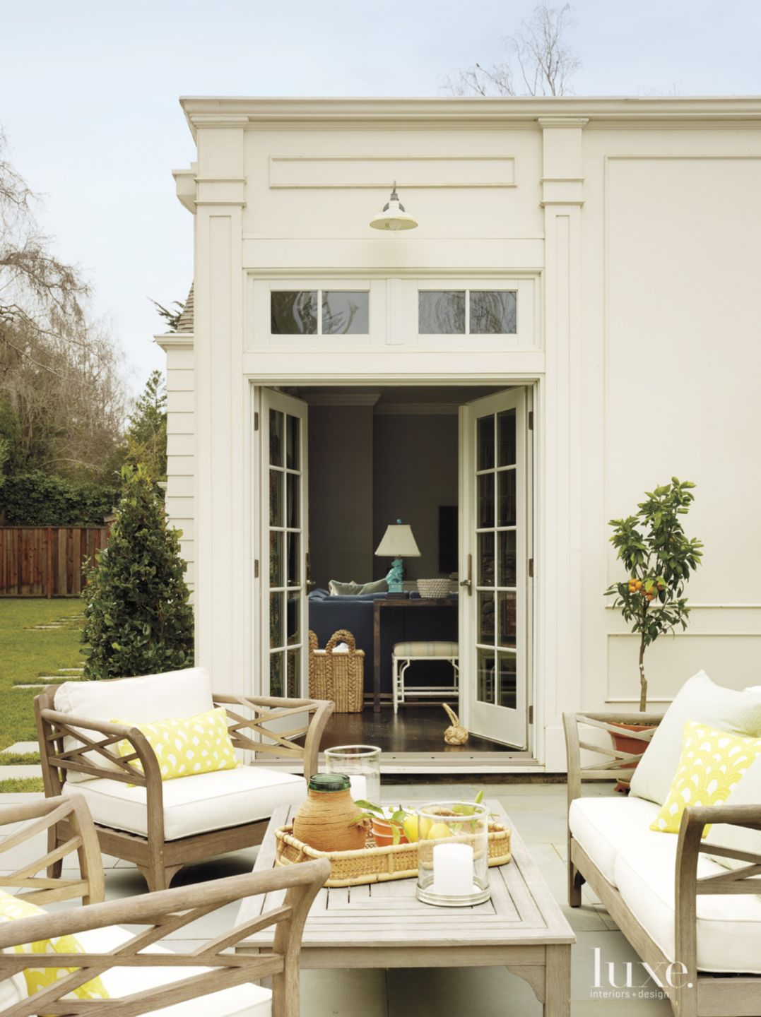 Traditional White Rear Elevation Terrace